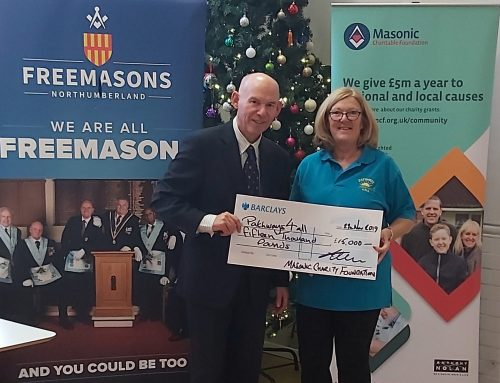 Support from Freemasons gives Charitable Work a Boost