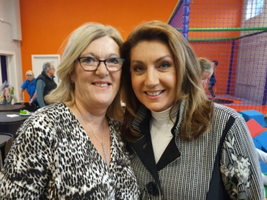 Lynn McManus with Jane McDonald