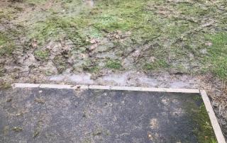 Muddy mess at top of ramp